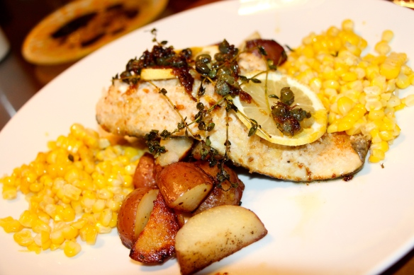 Roasted Lemon and Caper Trout